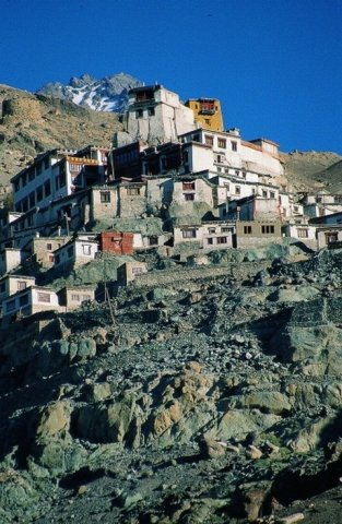 Buddhist monastery Diskit  is spread above the valley where two rivers meet – Nubra and Syok in the verge of the Himalayas and Karakoram in the northern Ladakh.